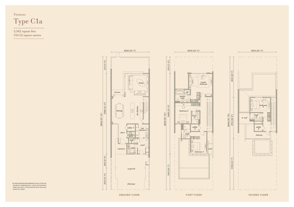 Senja Type C1a Floor Plan