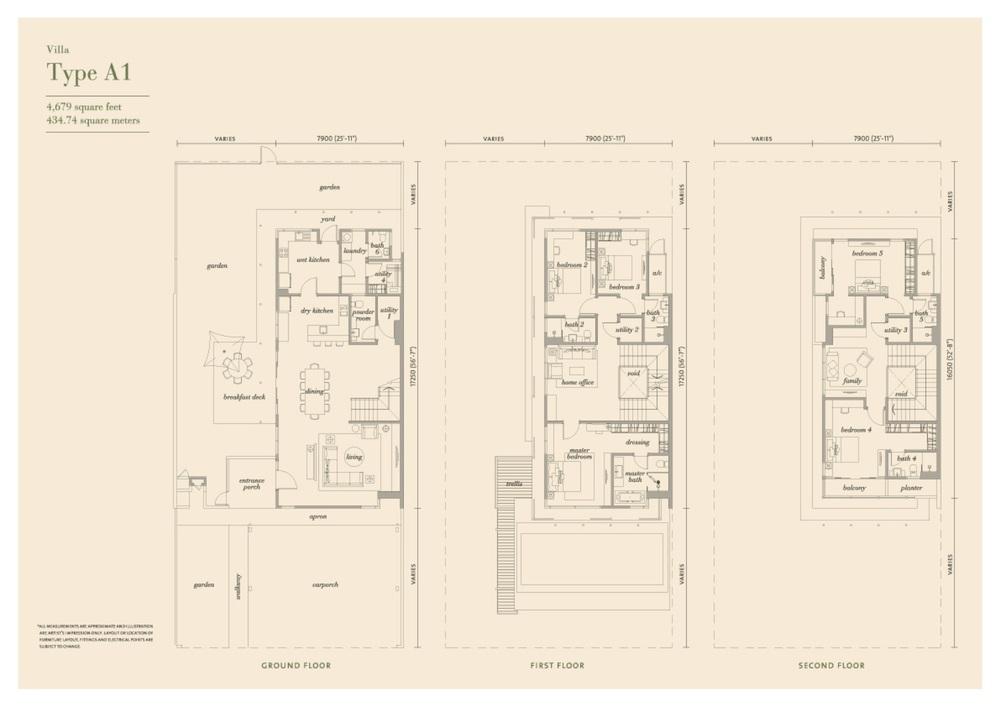 Senja Type A1 Floor Plan