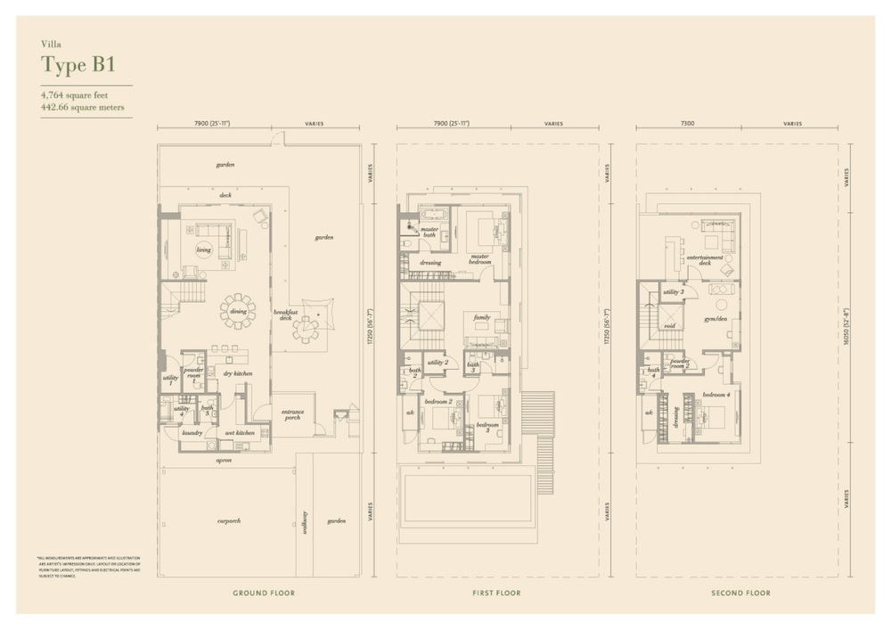 Senja Type B1 Floor Plan