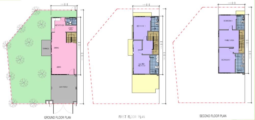 Kazen @ Taman Saujana Puchong Type F Floor Plan