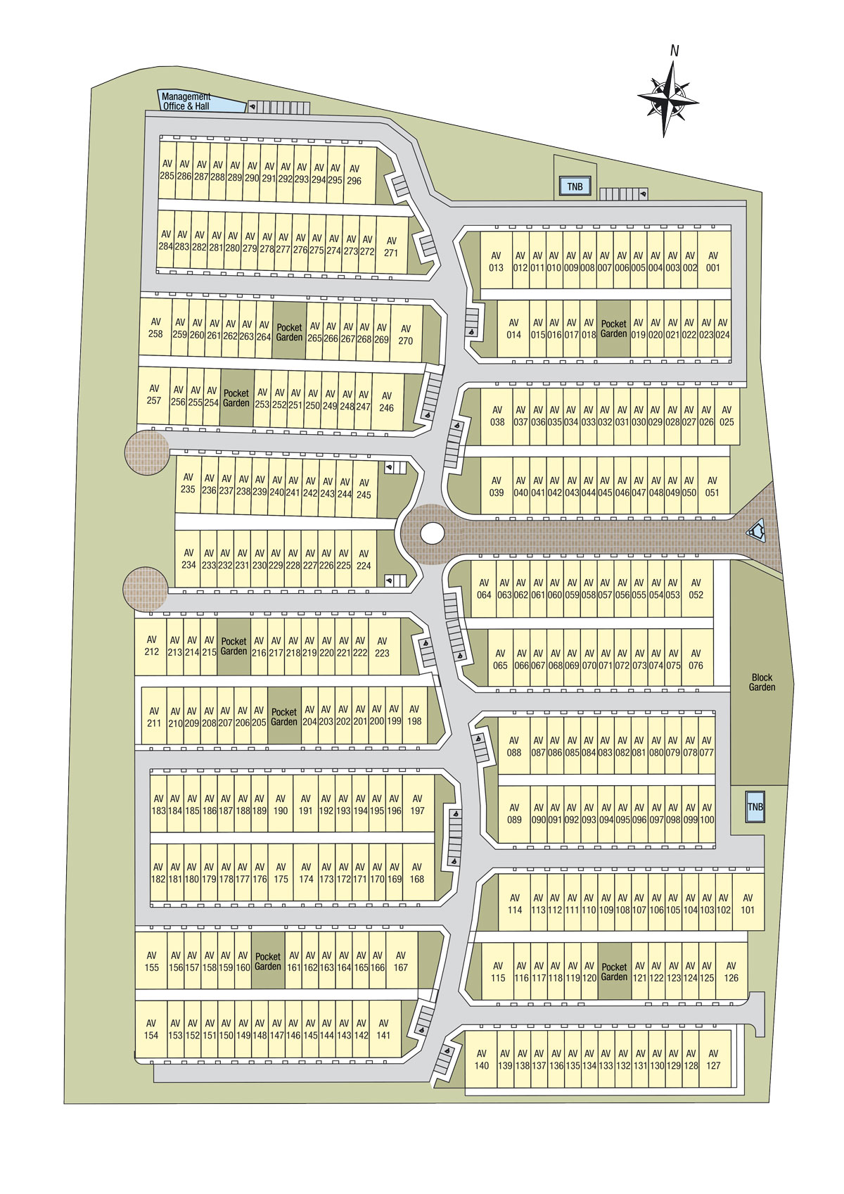 Site Plan of Avens