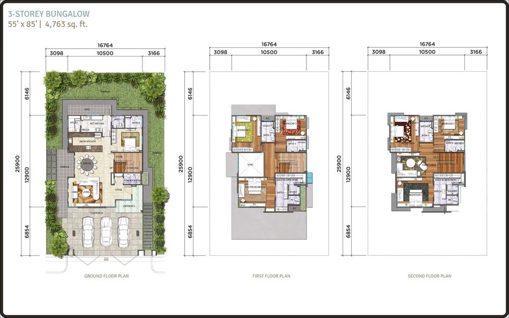 Lambaian Residence Bungalow Floor Plan
