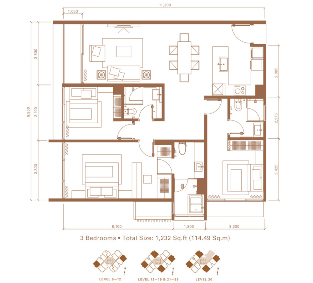Stonor 3 Type E Floor Plan