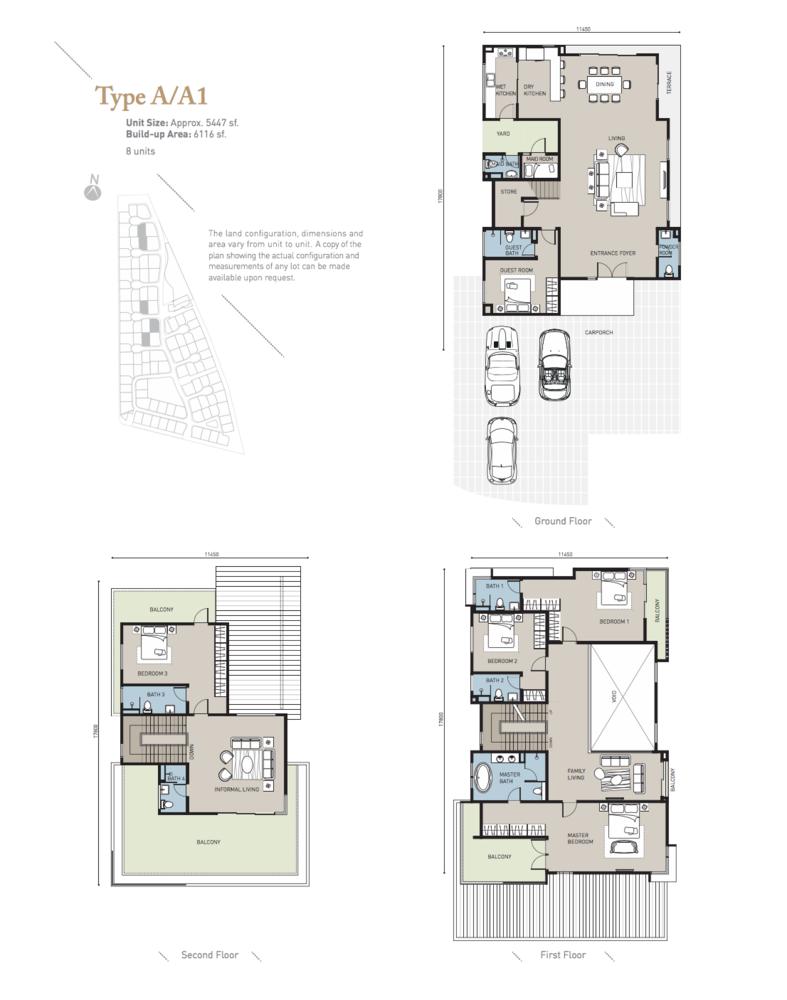 Long Branch Residences @ HomeTree Type A/A1 Floor Plan