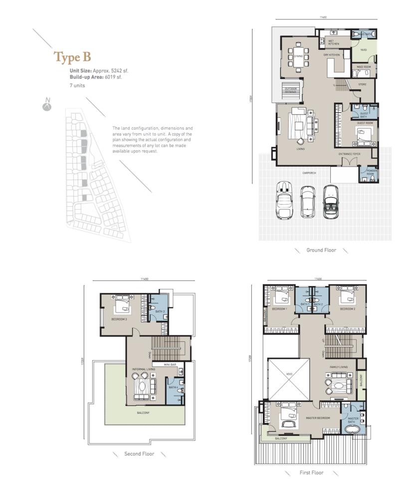 Long Branch Residences @ HomeTree Type B Floor Plan