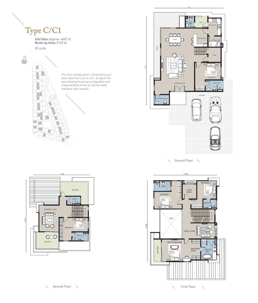 Long Branch Residences @ HomeTree Type C/C1 Floor Plan