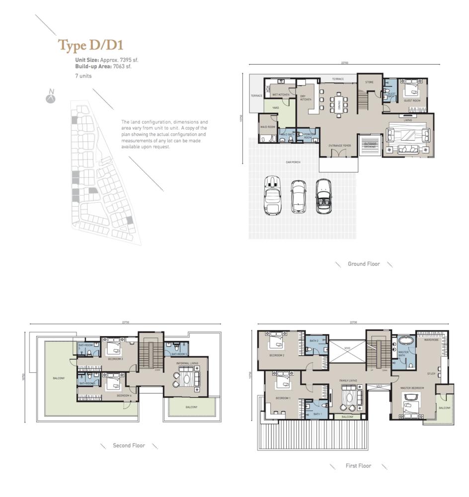 Long Branch Residences @ HomeTree Type D/D1 Floor Plan