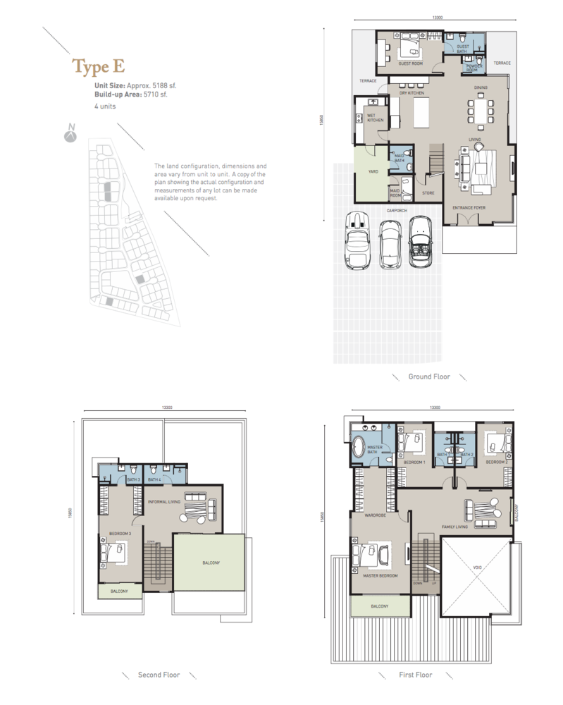 Long Branch Residences @ HomeTree Type E Floor Plan