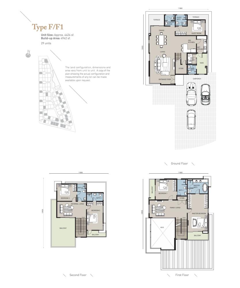 Long Branch Residences @ HomeTree Type F/F1 Floor Plan