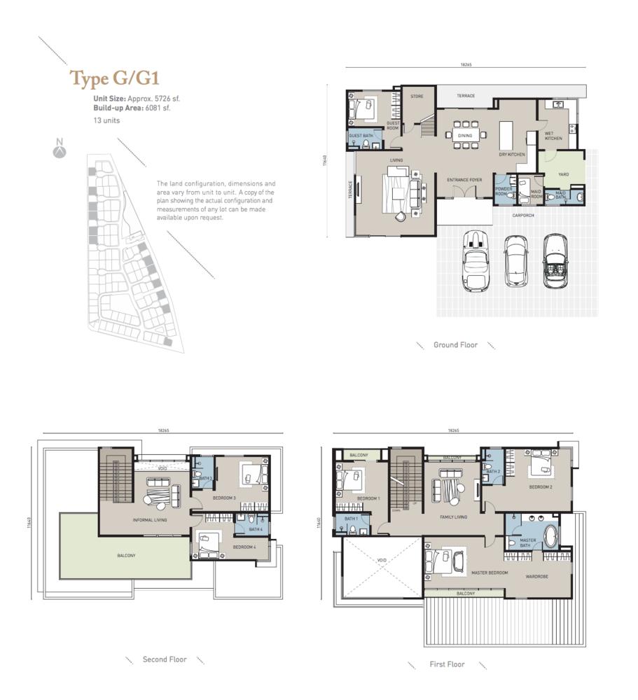 Long Branch Residences @ HomeTree Type G/G1 Floor Plan