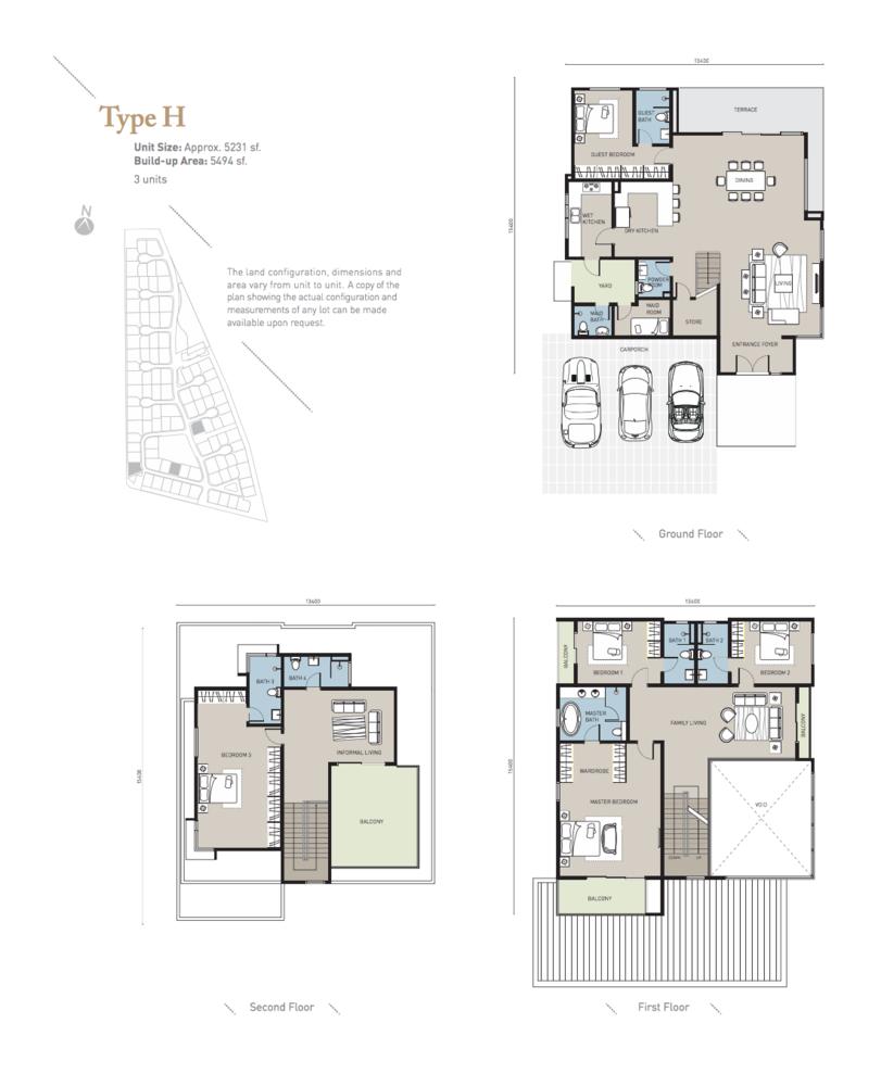 Long Branch Residences @ HomeTree Type H Floor Plan