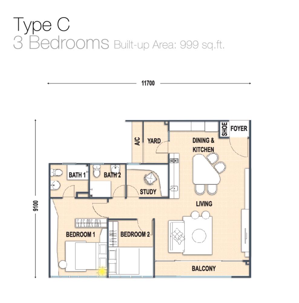 Austin Regency Type C Floor Plan