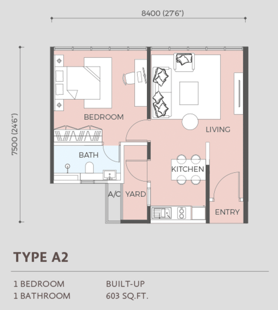 Oasis Rio Type A2  Floor Plan