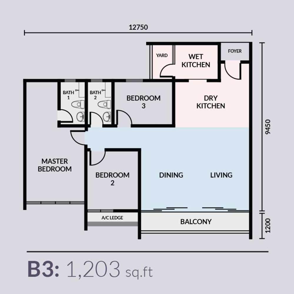 Skyvilla @ D'Island Type B3 Floor Plan