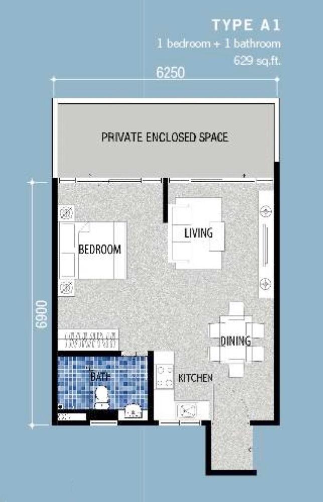 Seri Austin Residence Type A1 Floor Plan