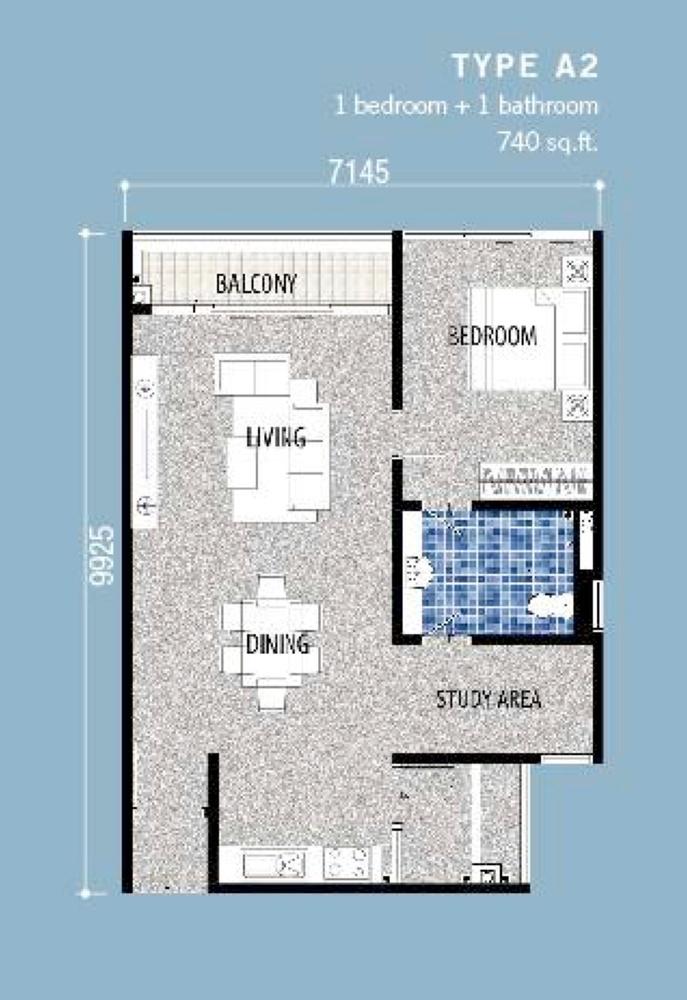 Seri Austin Residence Type A2 Floor Plan