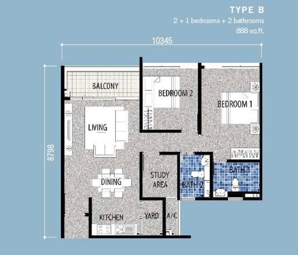 Seri Austin Residence Type B Floor Plan