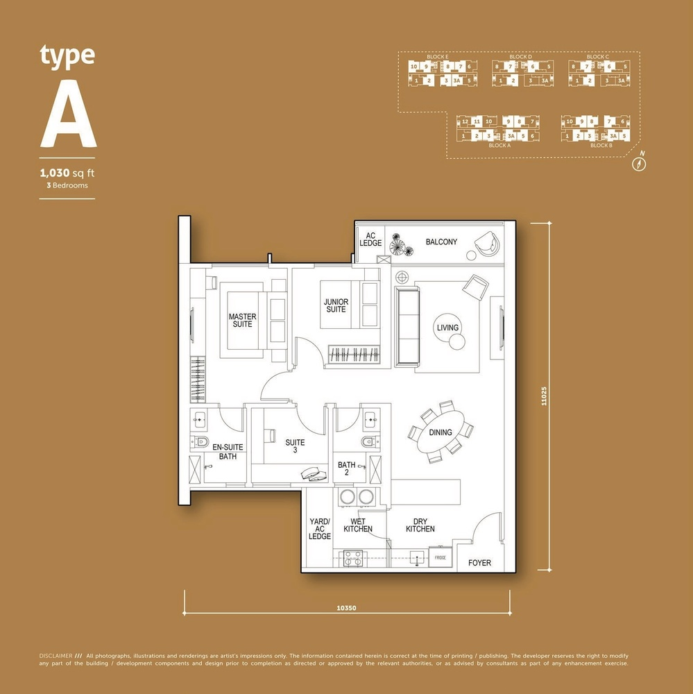 Aspen Vision City Vertu Resort - Type A Floor Plan