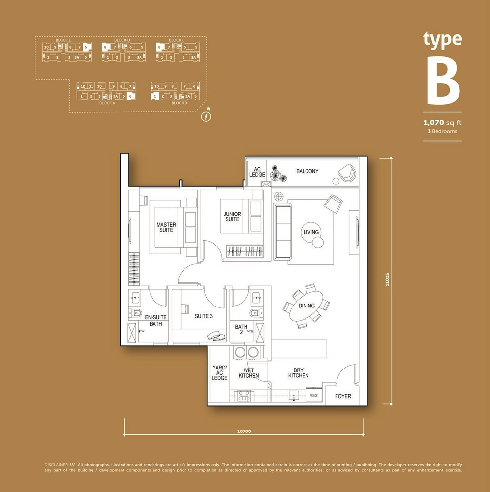 Aspen Vision City Vertu Resort - Type B Floor Plan