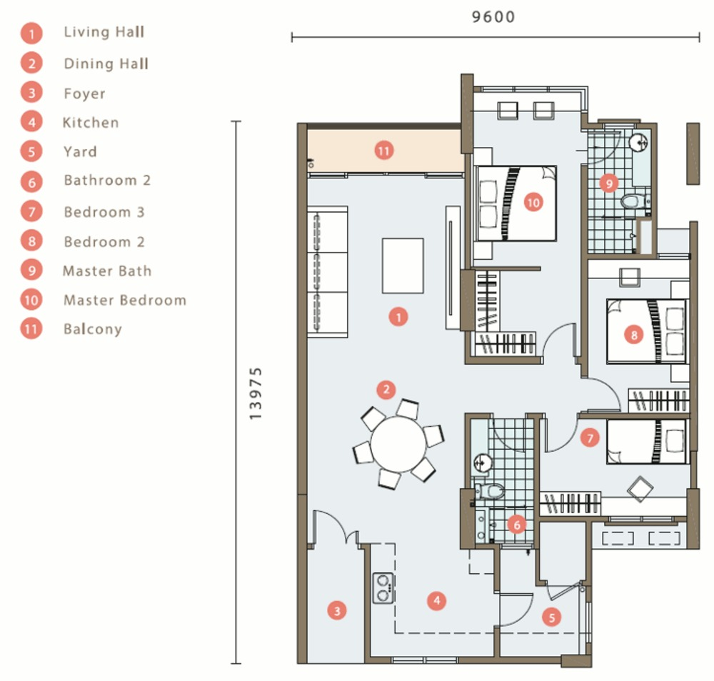 Mont Residence Typical Unit Floor Plan
