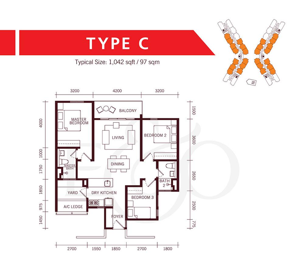 The Tamarind Type C Floor Plan