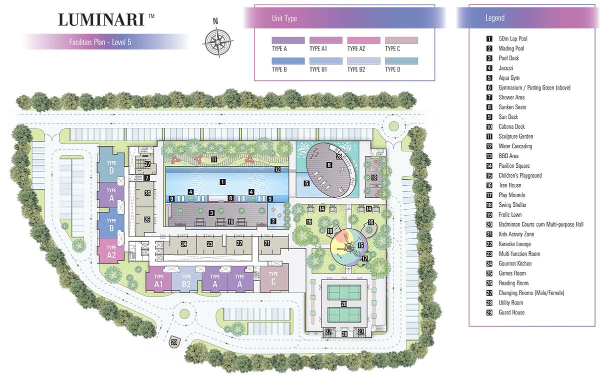 Site Plan of Luminari