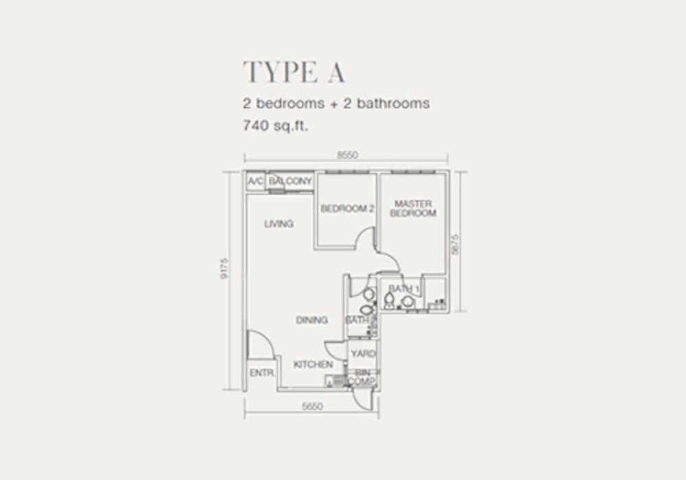 One Sentral Type A Floor Plan
