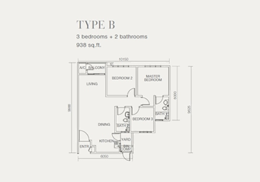 One Sentral Type B Floor Plan