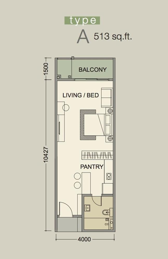 D'Secret Garden Type A Floor Plan