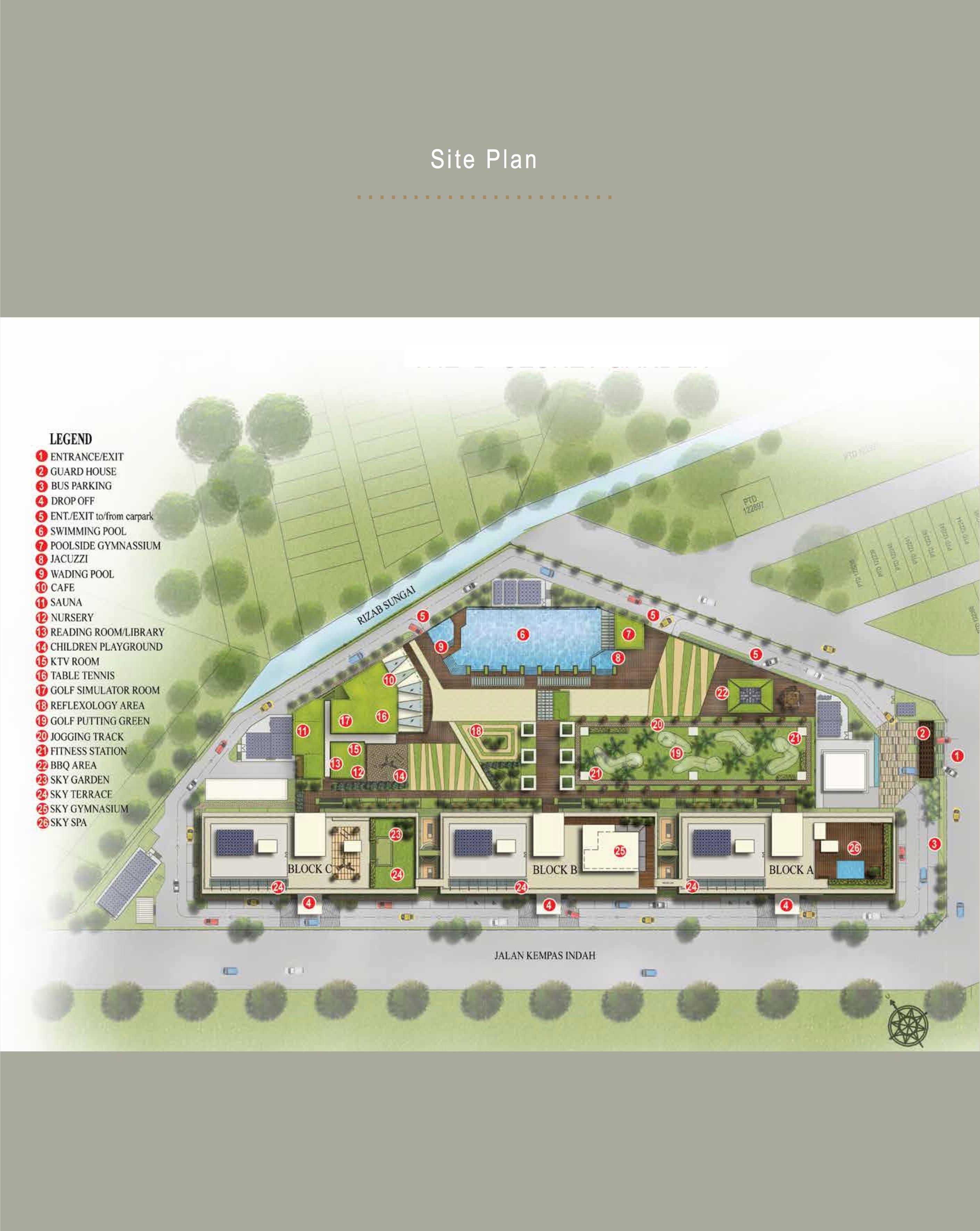 Site Plan of D'Secret Garden