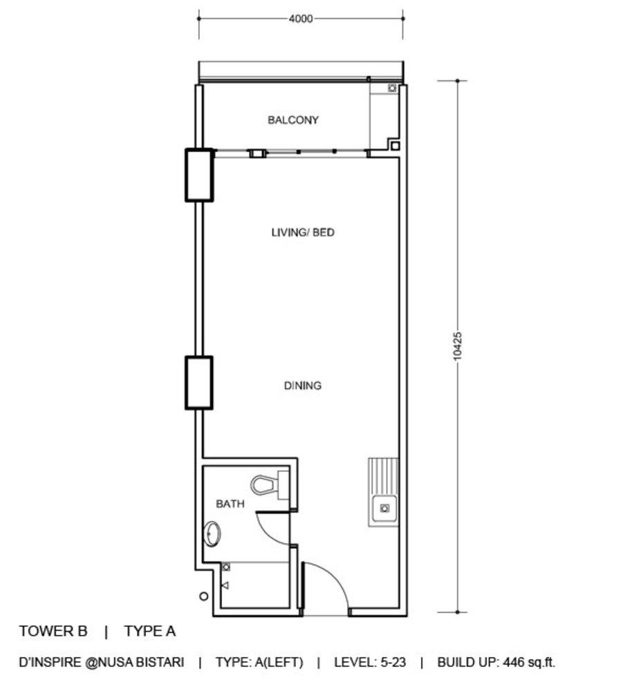 D'Inspire Residence Tower B - Type A Floor Plan
