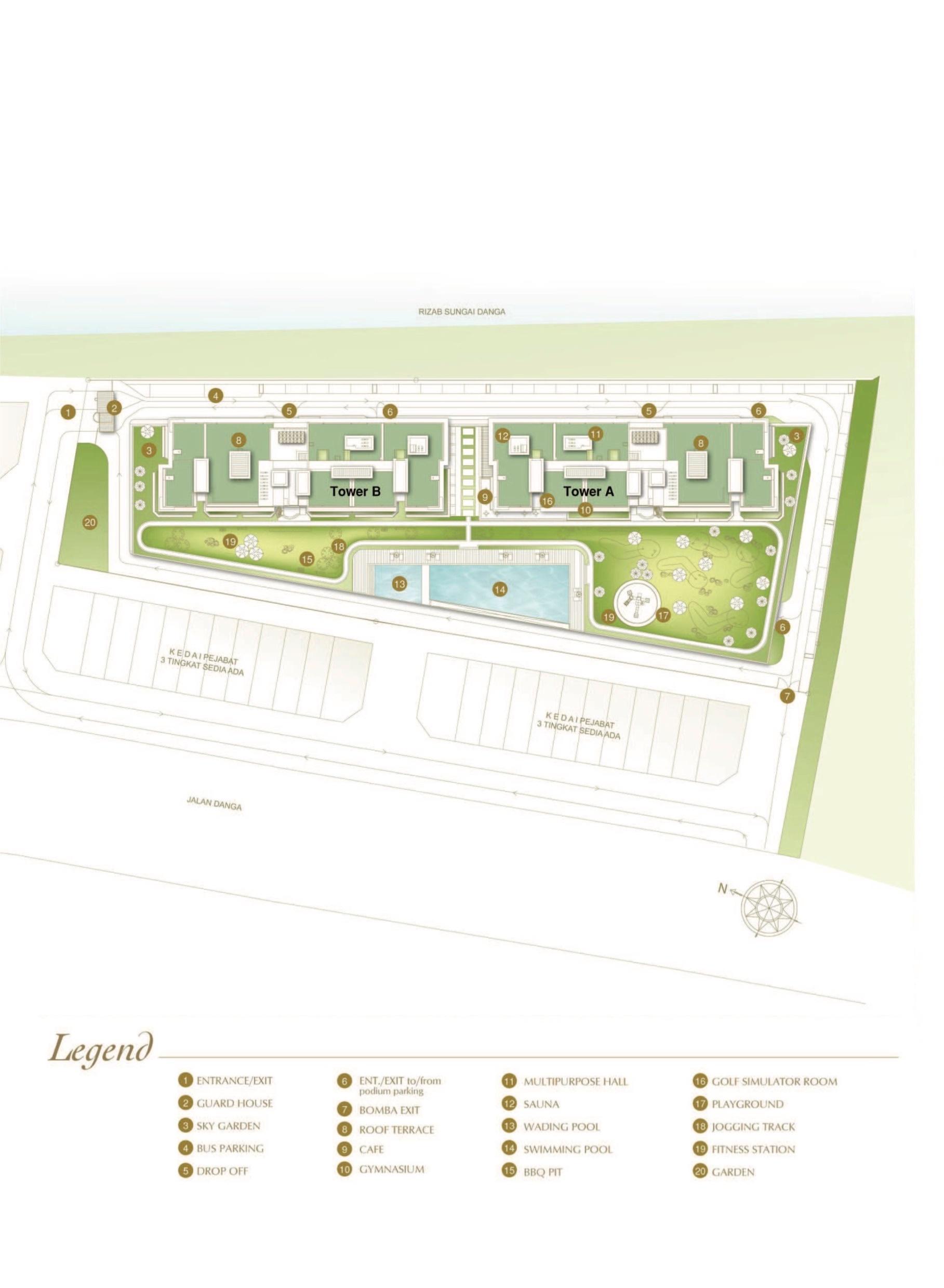 Site Plan of D'Inspire Residence