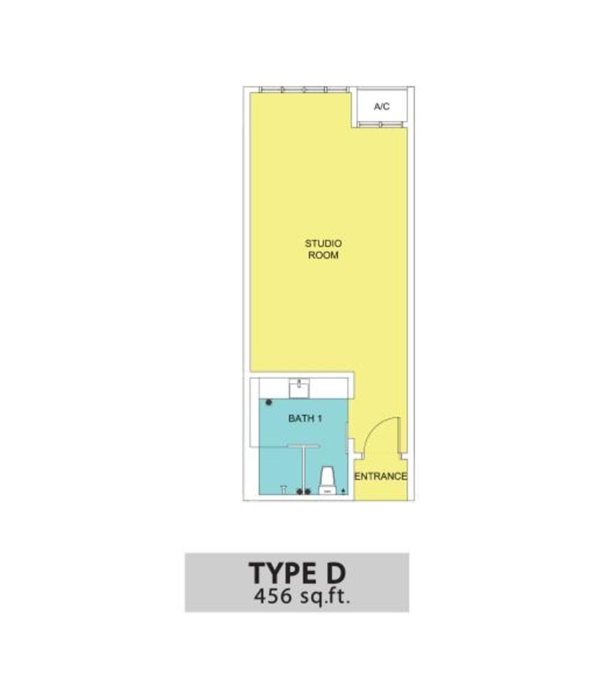 KSL Residences @ Daya Type D Floor Plan