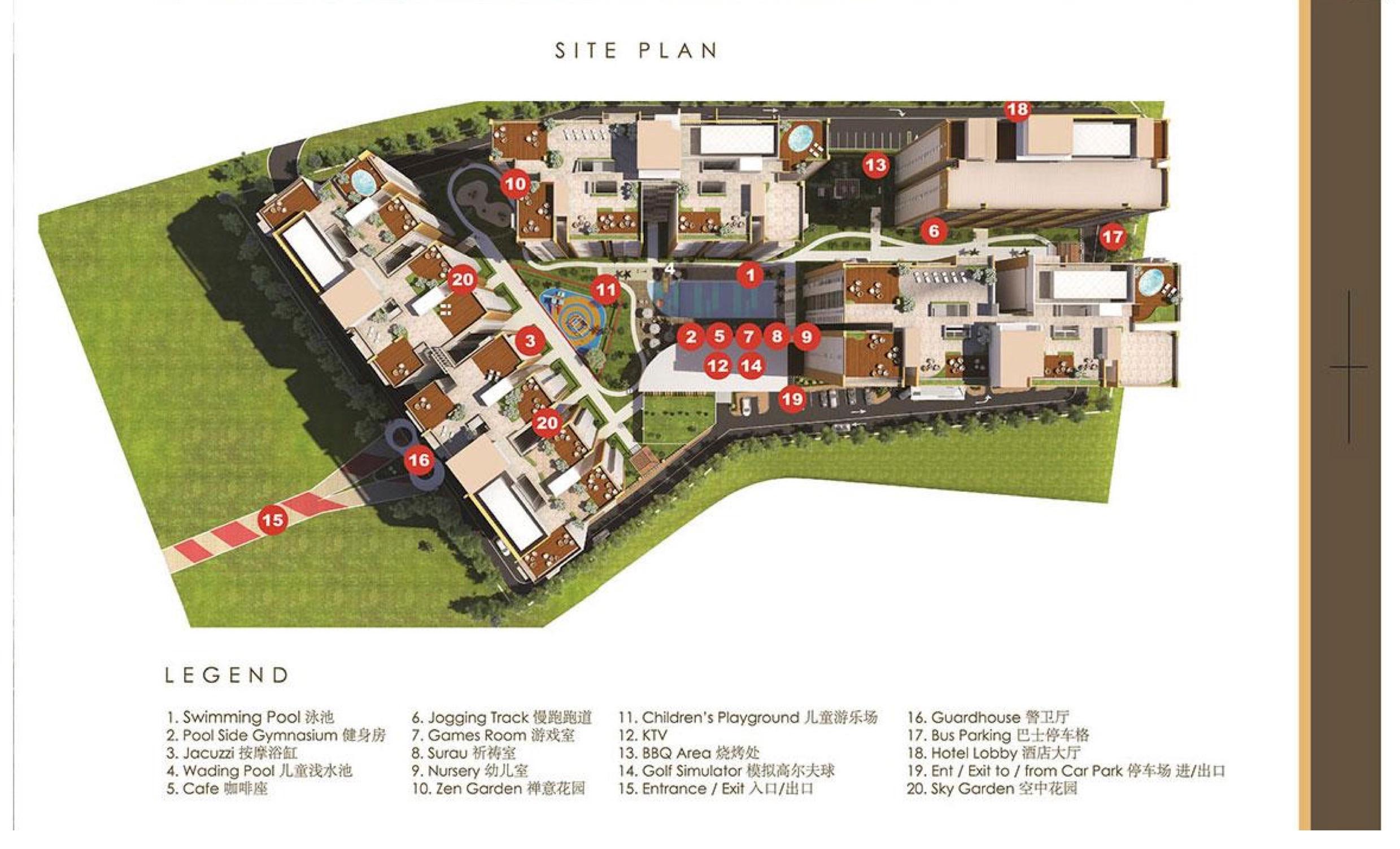 Site Plan of KSL Residences @ Daya