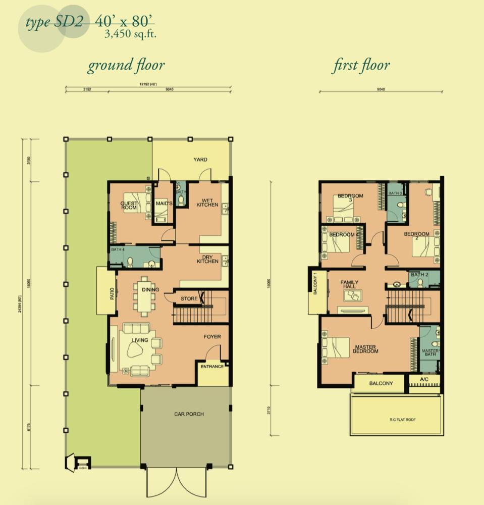 Canary Garden Clermont - Type SD2 Floor Plan