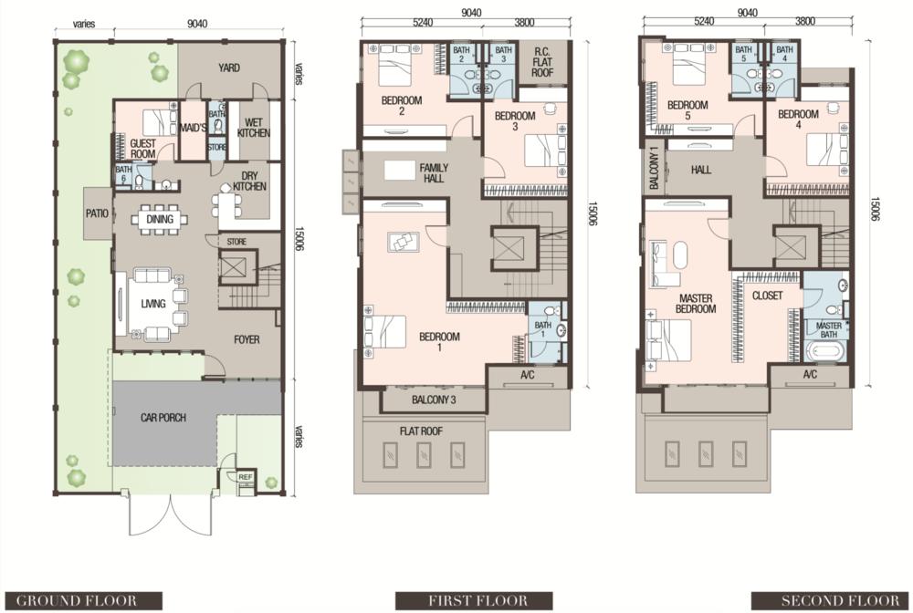 Canary Garden Argentine - Type SD4 Floor Plan