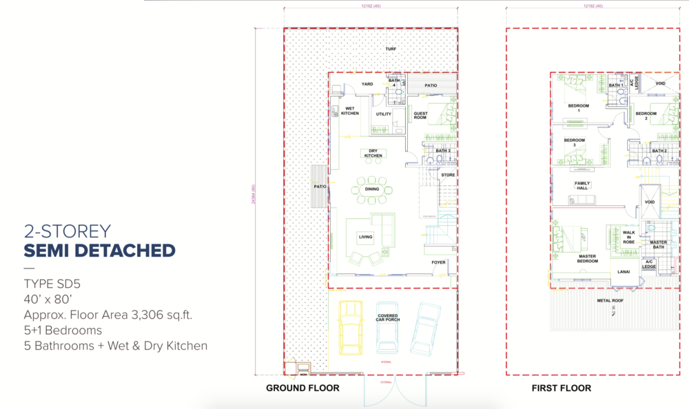 Canary Garden Ridgewood - Type SD5 Floor Plan