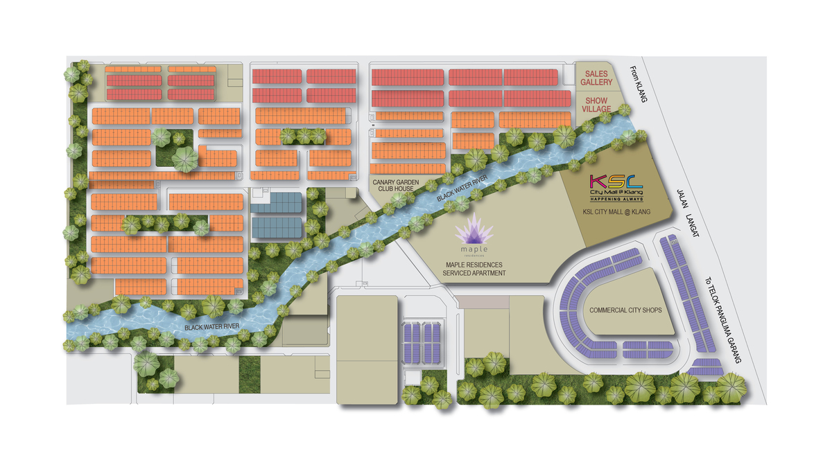 Master Plan of Canary Garden