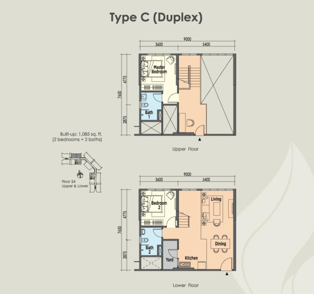 East Parc @ Menjalara Type C Floor Plan