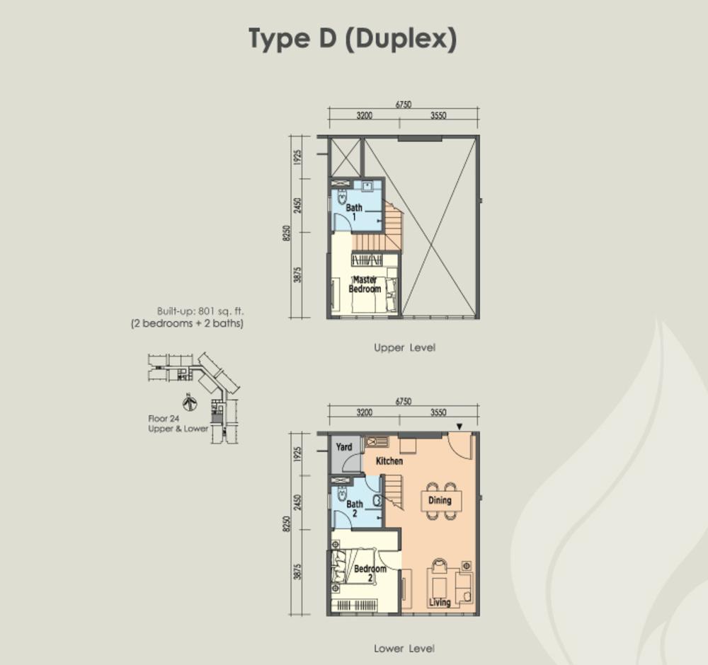 East Parc @ Menjalara Type D Floor Plan