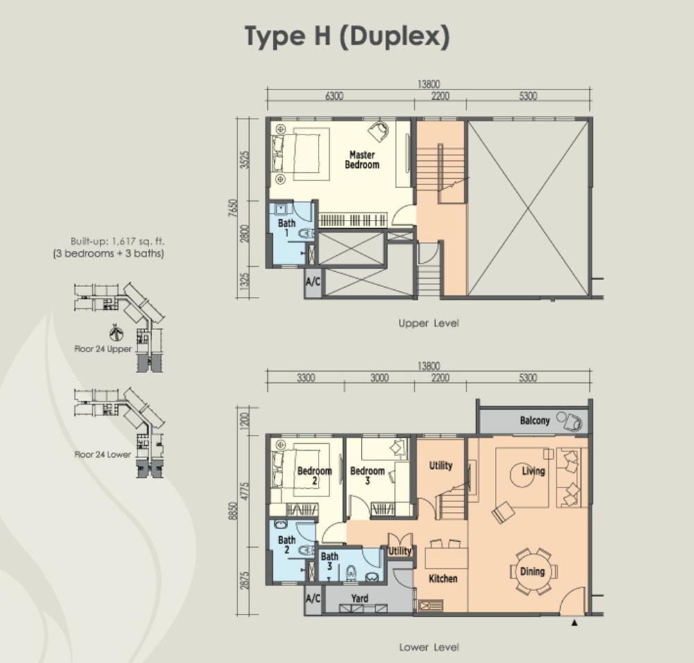 East Parc @ Menjalara Type H Floor Plan