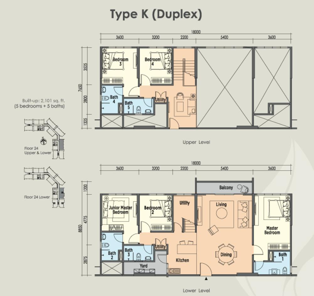 East Parc @ Menjalara Type K Floor Plan