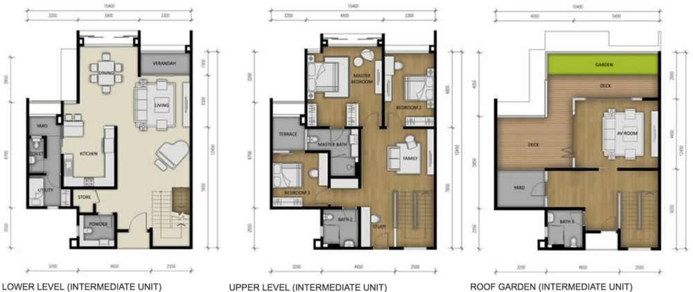 280 Park Homes Type B3 Floor Plan