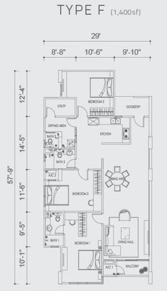 Altus Type F Floor Plan