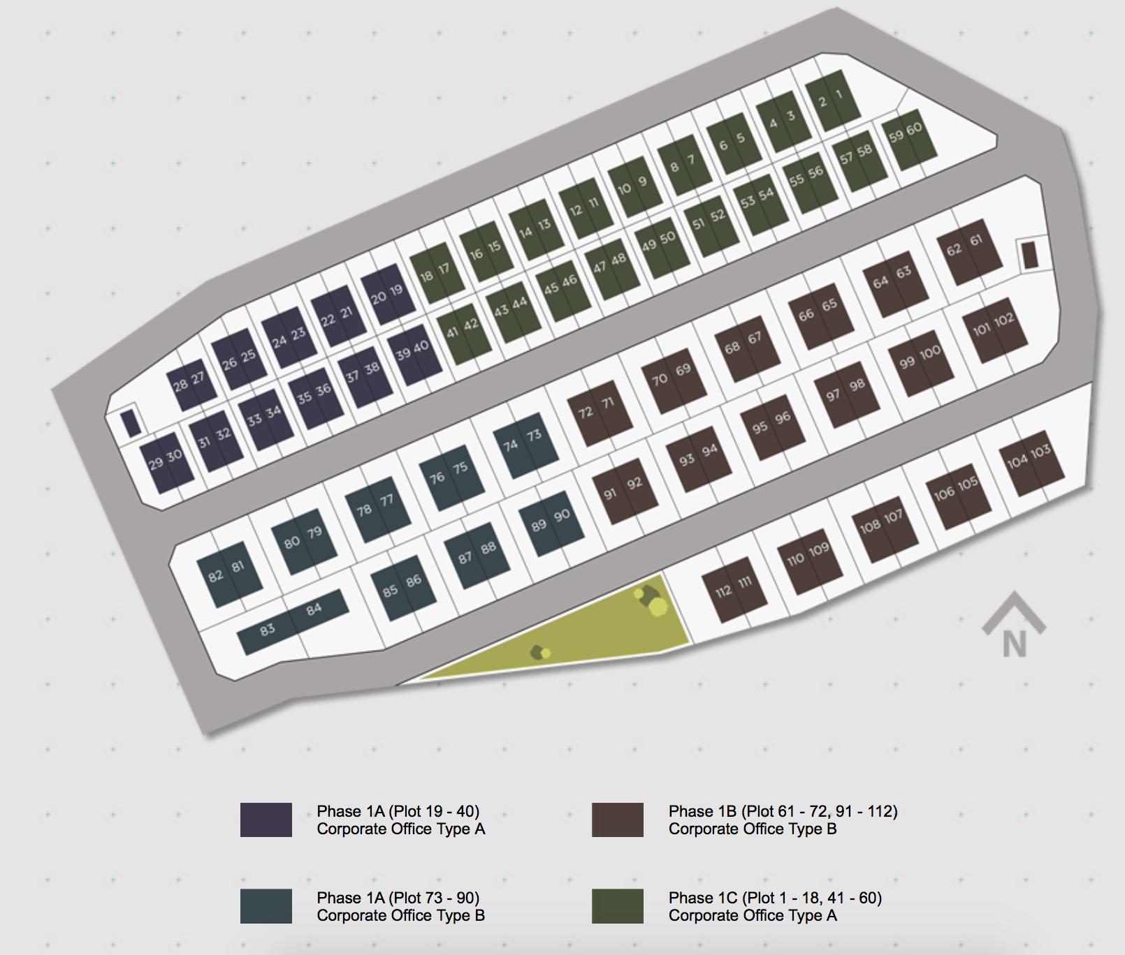 Site Plan of Vortex Business Park