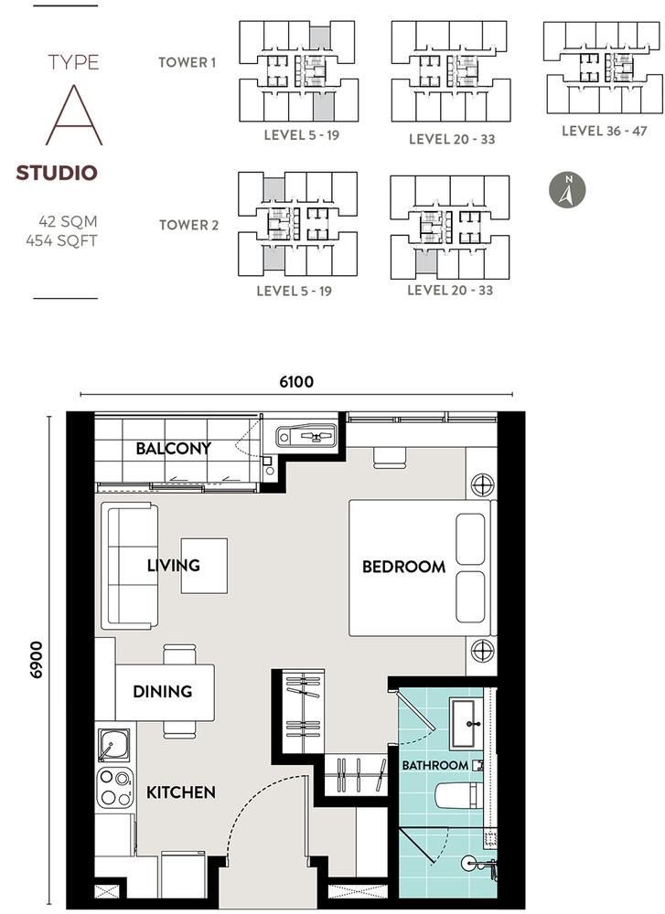 Bukit Bintang City Centre Lucentia Residences - Type A Floor Plan