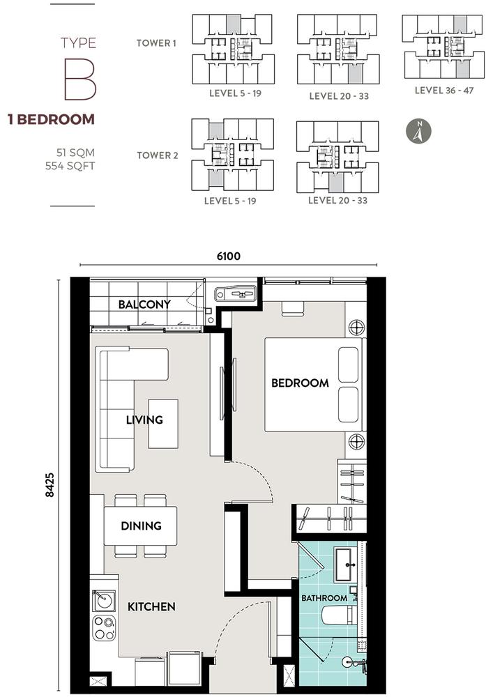 Bukit Bintang City Centre Lucentia Residences - Type B Floor Plan