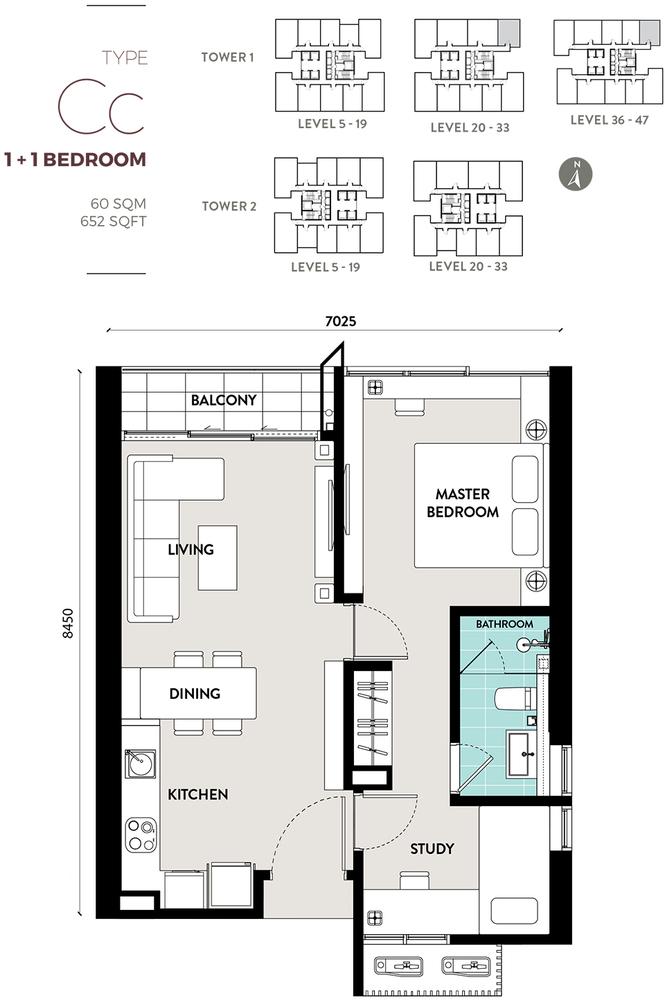 Bukit Bintang City Centre Lucentia Residences - Type Cc Floor Plan