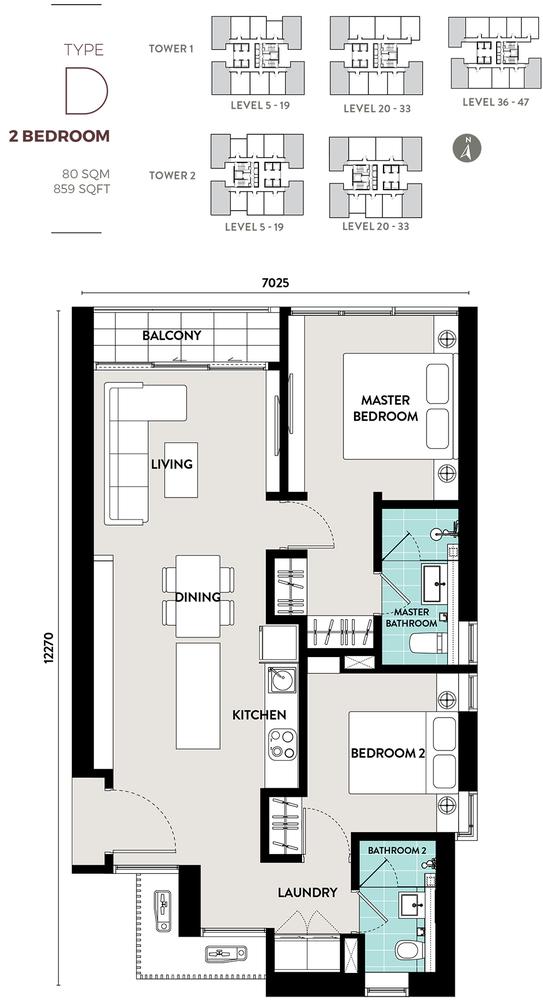 Bukit Bintang City Centre Lucentia Residences - Type D Floor Plan