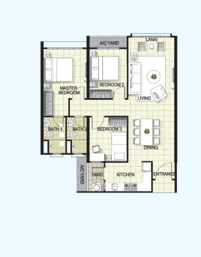 I-Santorini Standard Unit Floor Plan